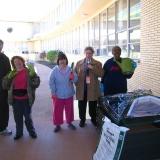 Clients enjoy volunteer activities in the community.